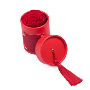 """Rosebox """"Red"""" z czerwoną wieczną różą"""