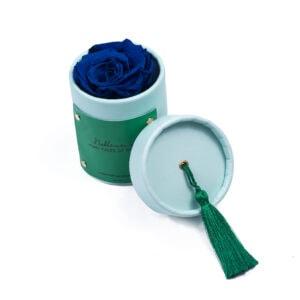 """Rosebox """"Aquamarine"""" wieczną różą, w kolorze """"Dark Blue"""""""