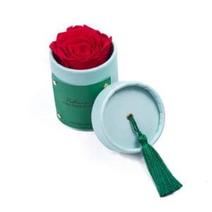 """Rosebox """"Aquamarine"""" wieczną różą, w kolorze czerwonym"""
